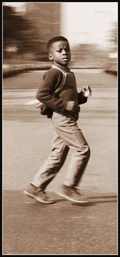 Sunday Street Crossing (detail) (1969)