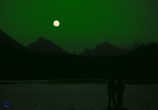 G14-2 Moonrise (Green), 1973