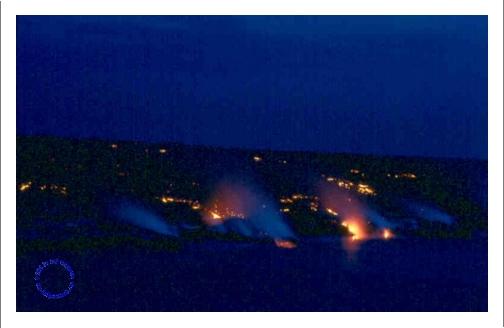 G10-6 Lava into Sea at Night, 1995