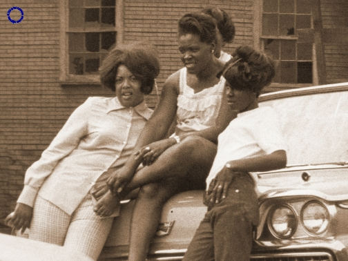 G12-1 Three Women & '59 Ford, 1969