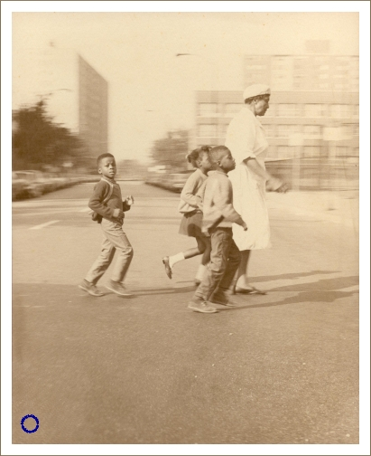 G12-2 Family in Crosswalk, 1969